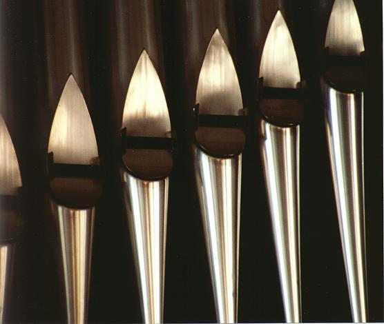 Detail des Orgelprospekts.