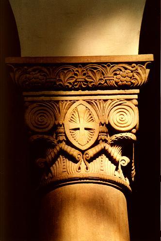 Kapitell der der Kanzel zugewandten nordöstlichen Säule des Langhauses